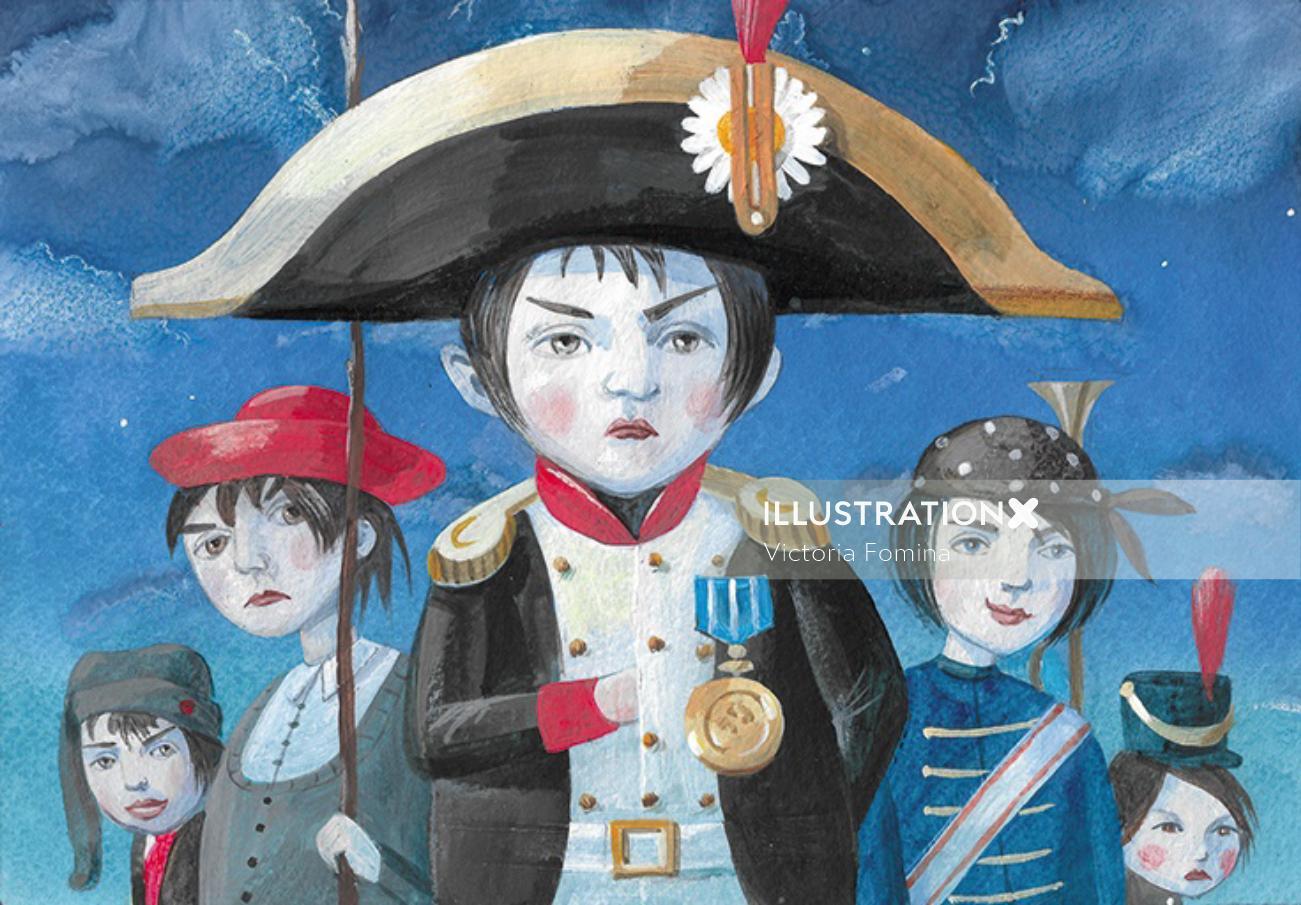 Young Napoleon Bonaparte graphic design