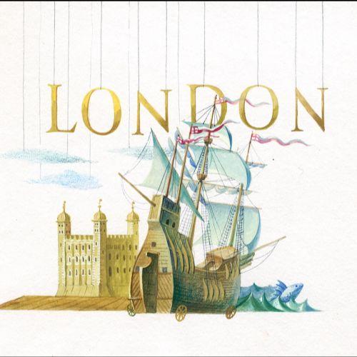 Acrylic watercolour historic