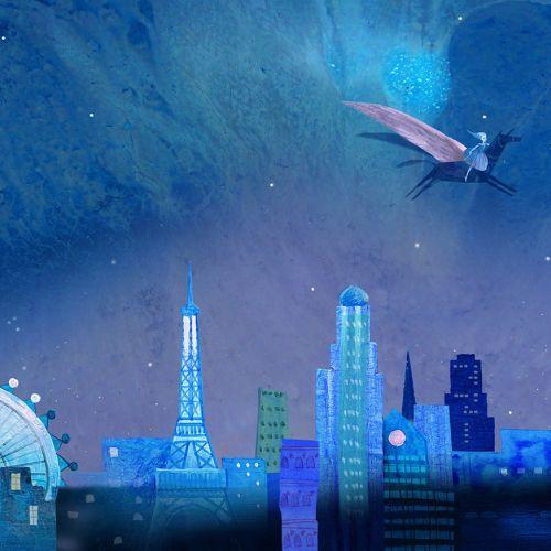The snow white children book graphic design