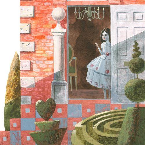 Mural art of snow white