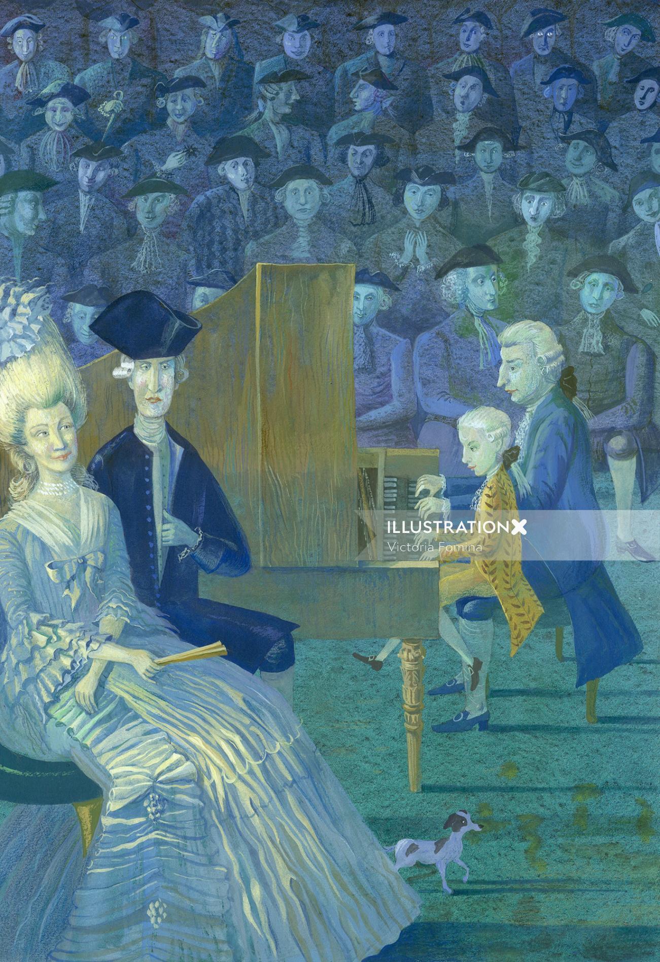 Grimm press Acrylic Mozart