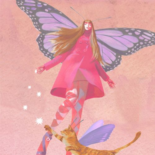 Fashion illustration of Butterfly girl