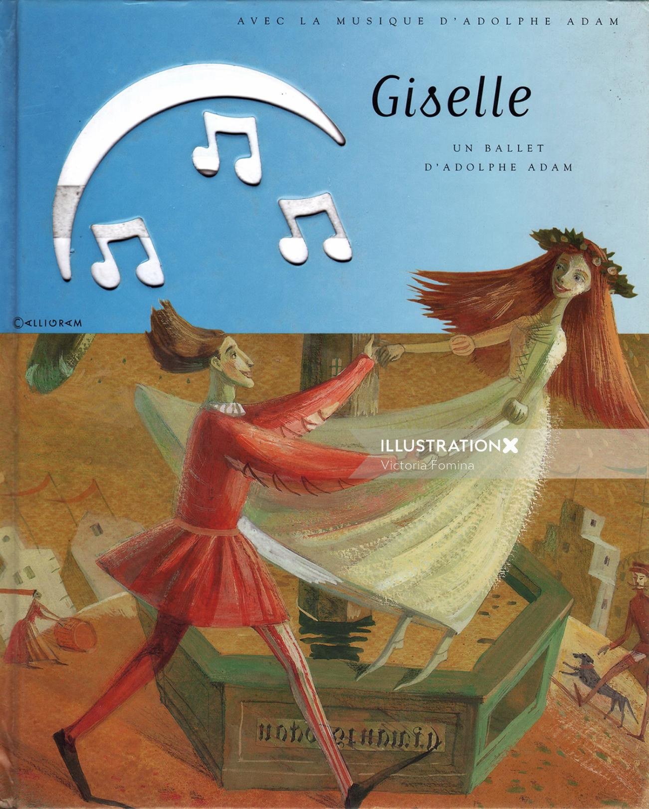 Giselle book cover design