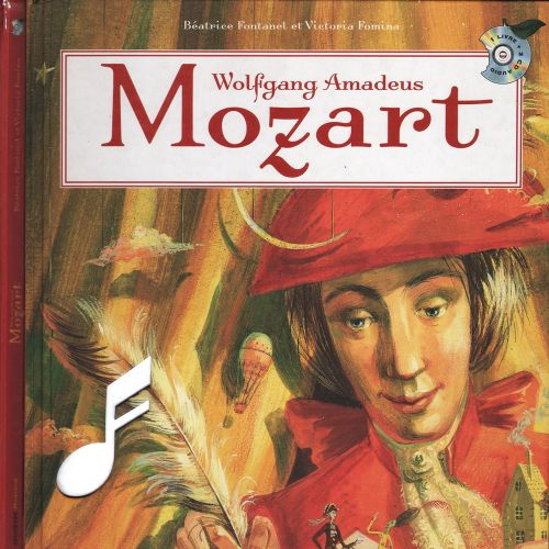 Book cover design of Mozart