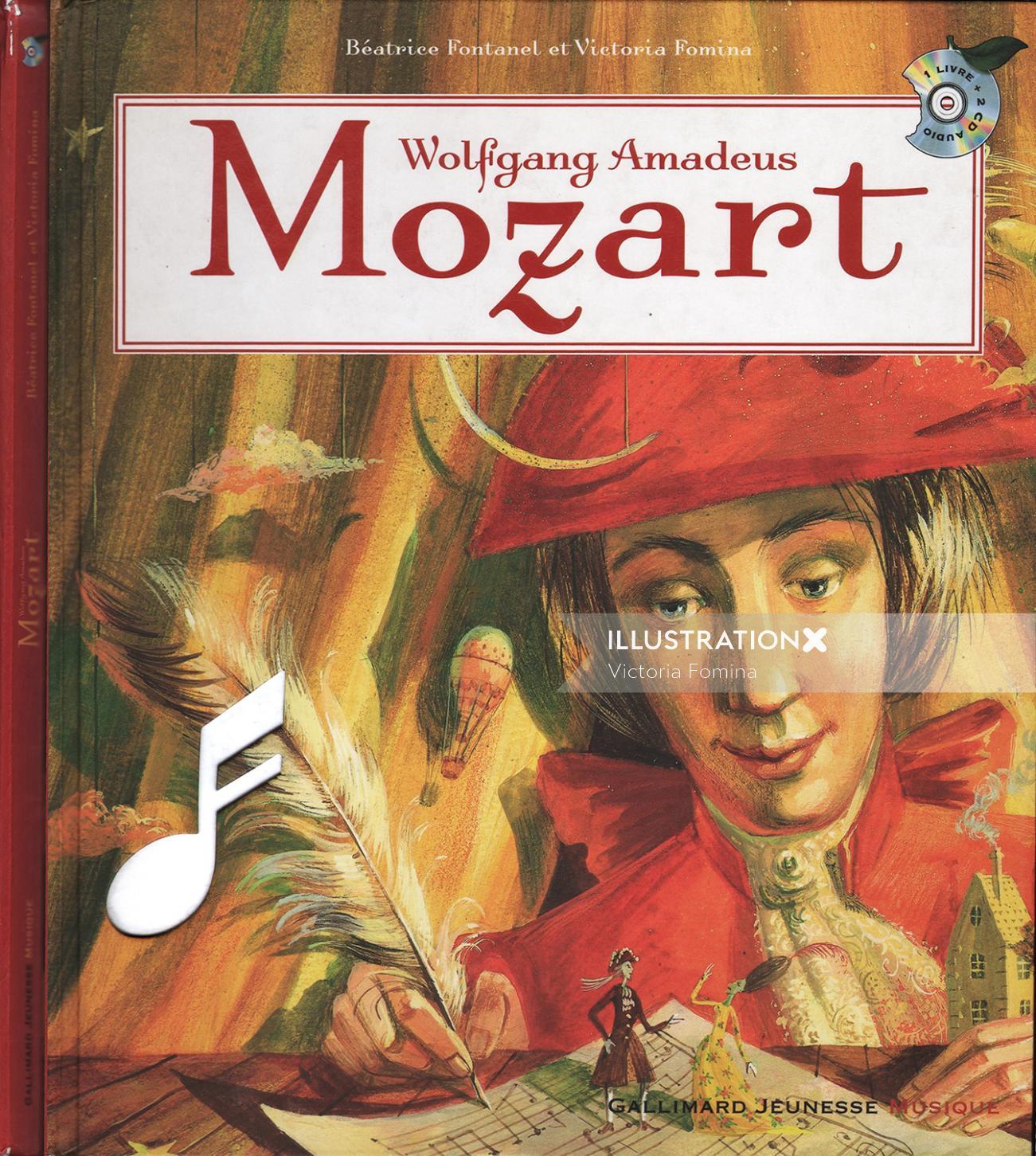 Book cover design of Mozart