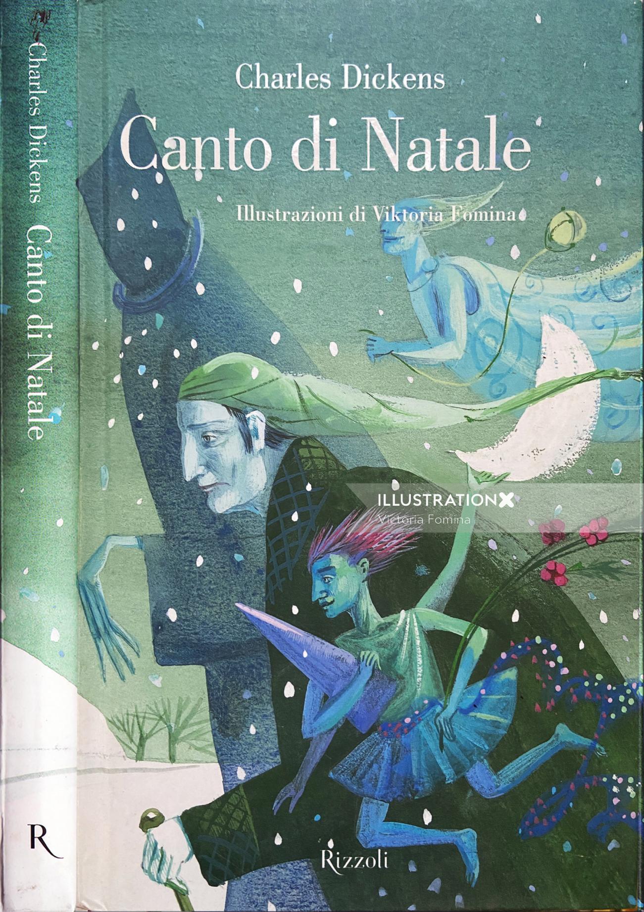 Canto di Natale book cover design