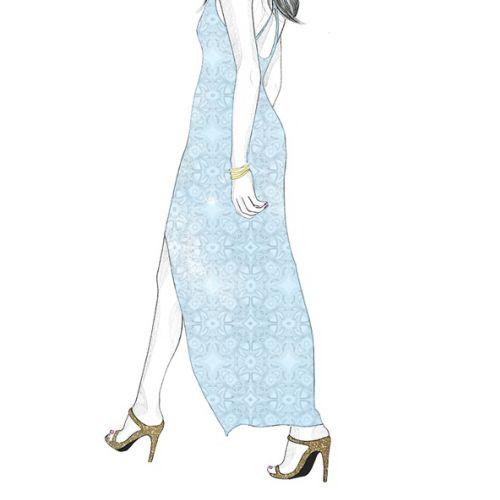 Fashion illustration of a lady