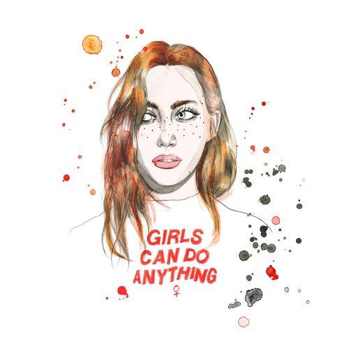 Feminine Drawing By Victoria Skovran Illustrator