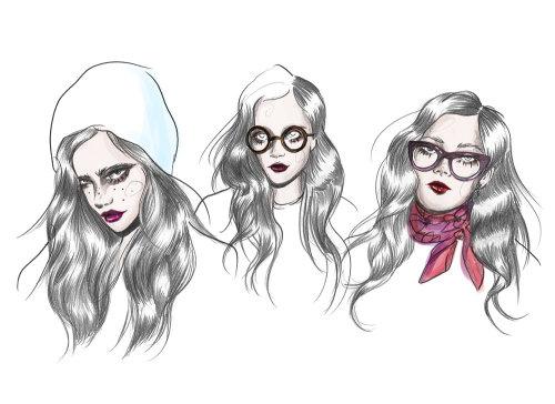 Illustration of fashion ladies