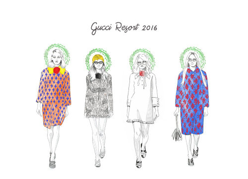 Illustration of female fashion ladies
