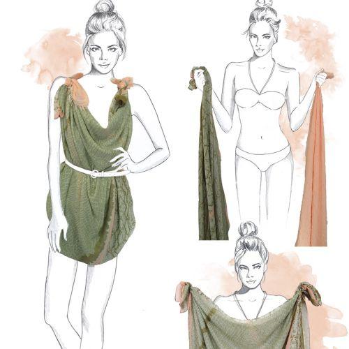 Illustration of a lady dress
