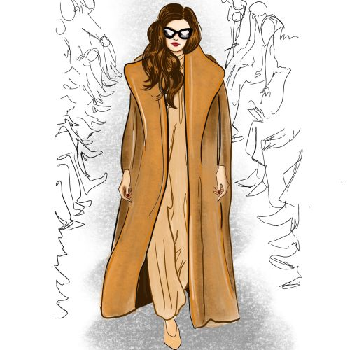 Fashion Illustration For Max Mara