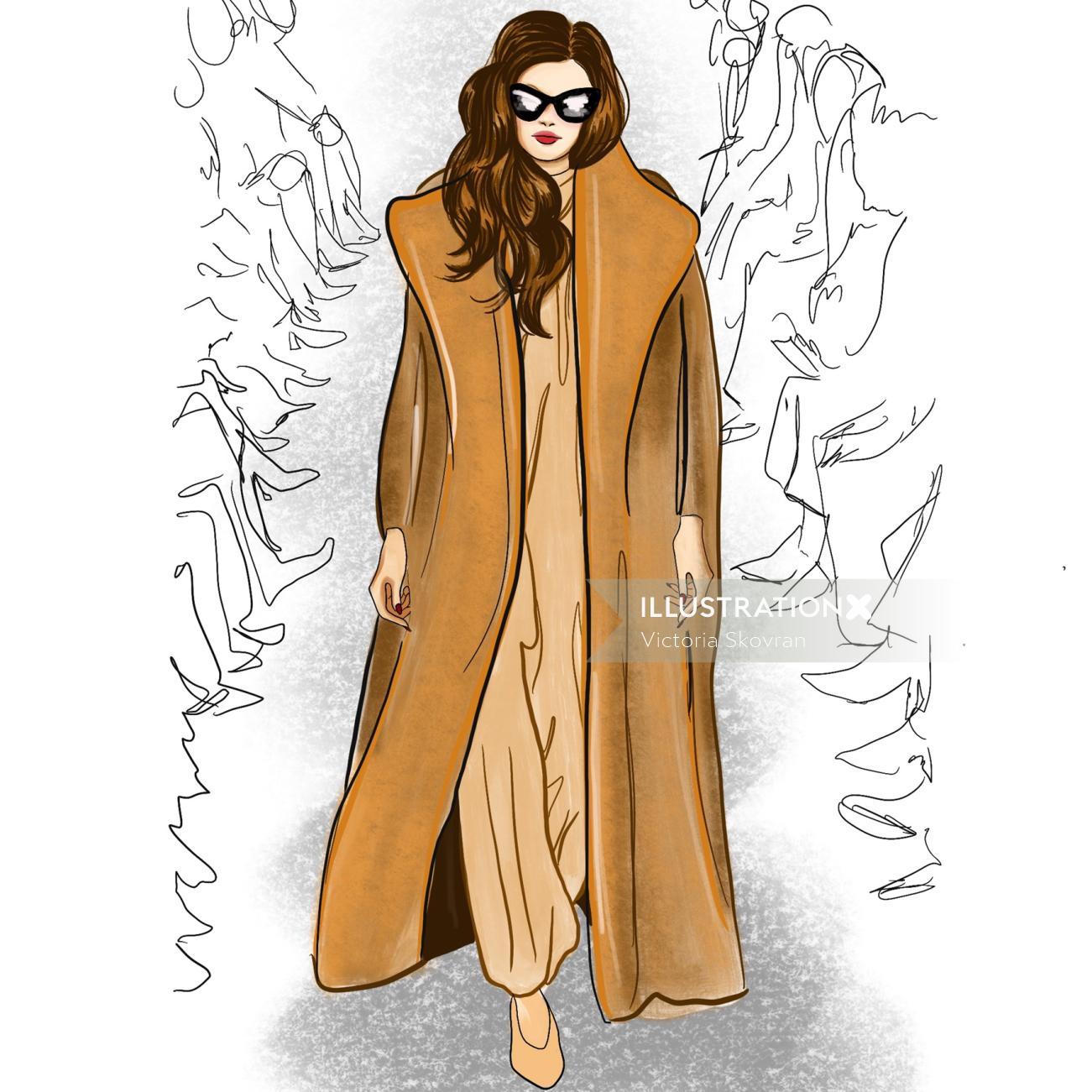 Fashion Illustration For Max Mara