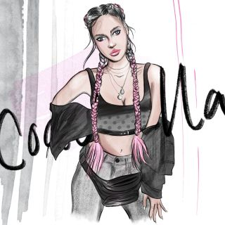 Fashion illustration of woman in coachella style