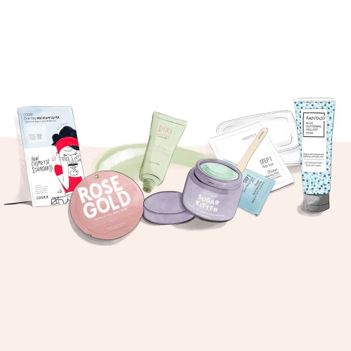 Skincare beauty products illustration