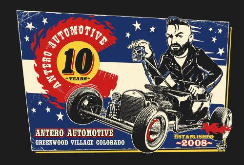 Advertising illustration of antero Automotive