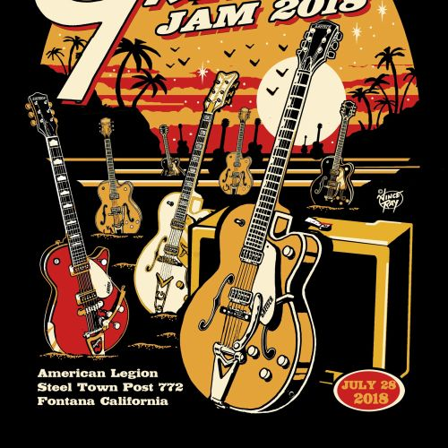 The so call Gretsch jam 2020 poster design