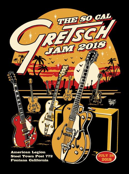 The so call Gretsch jam 2020 poster design