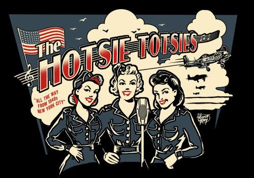 Music album cover design of The Hotsie Totsies