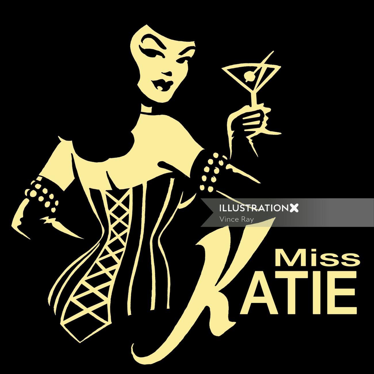 Miss Katie character design