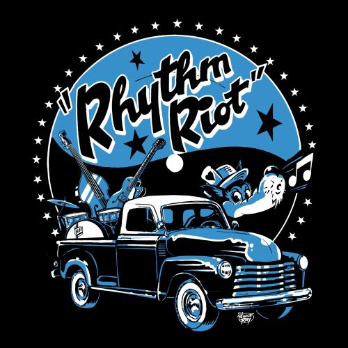 Graphic design of rhythm riot