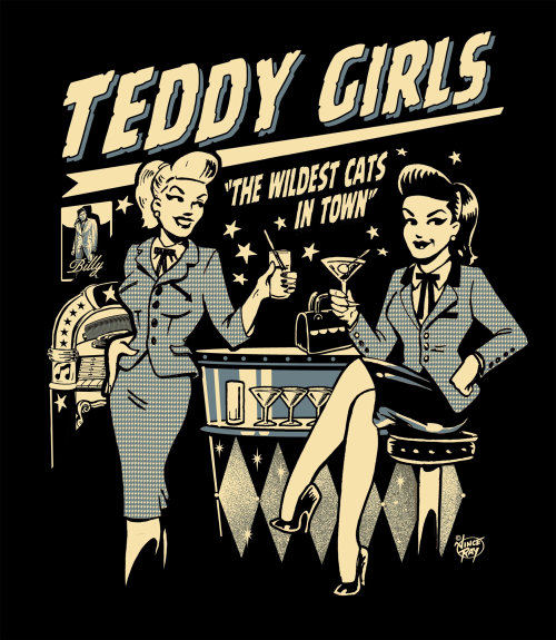 Poster design of teddy girls