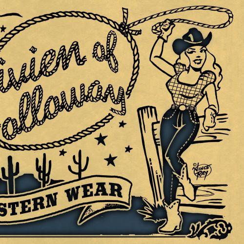 Fashion lettering art of western wear