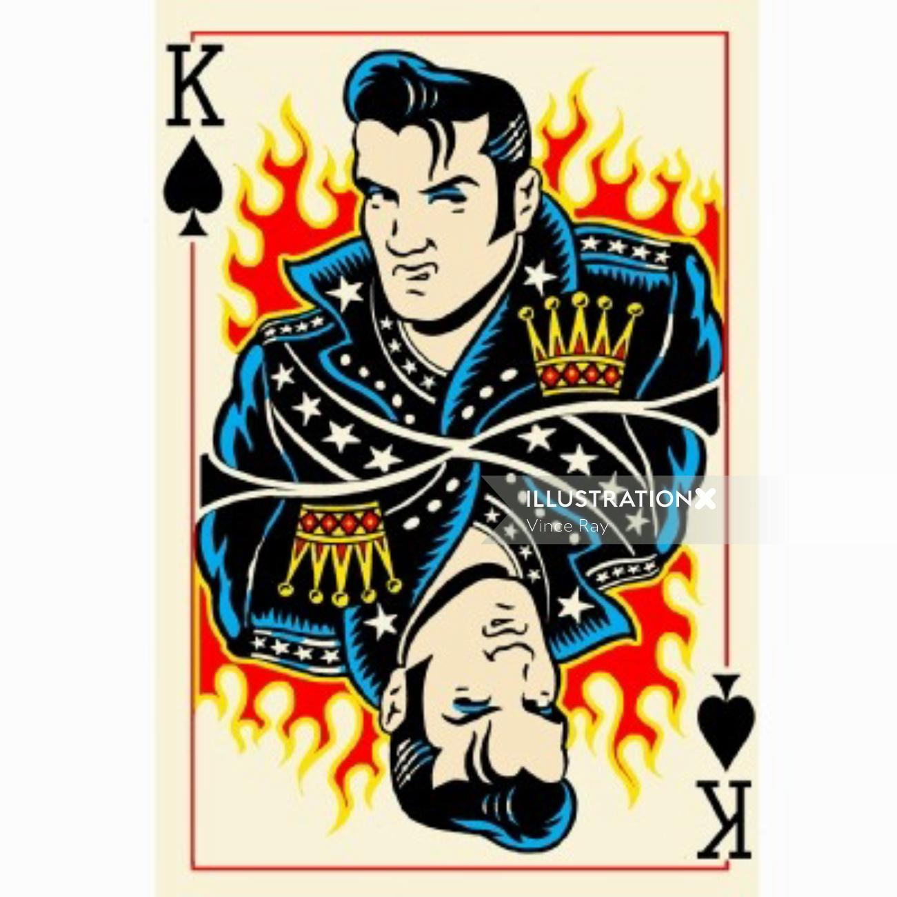 King Playing Cards illustration