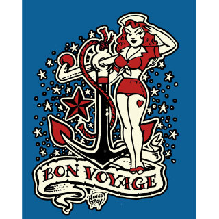 Illustration of Bon Voyage cover by Vince Ray