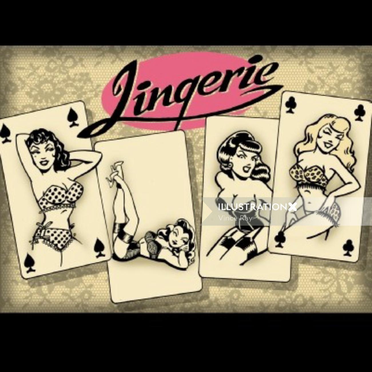 Beautiful women in Lingerie