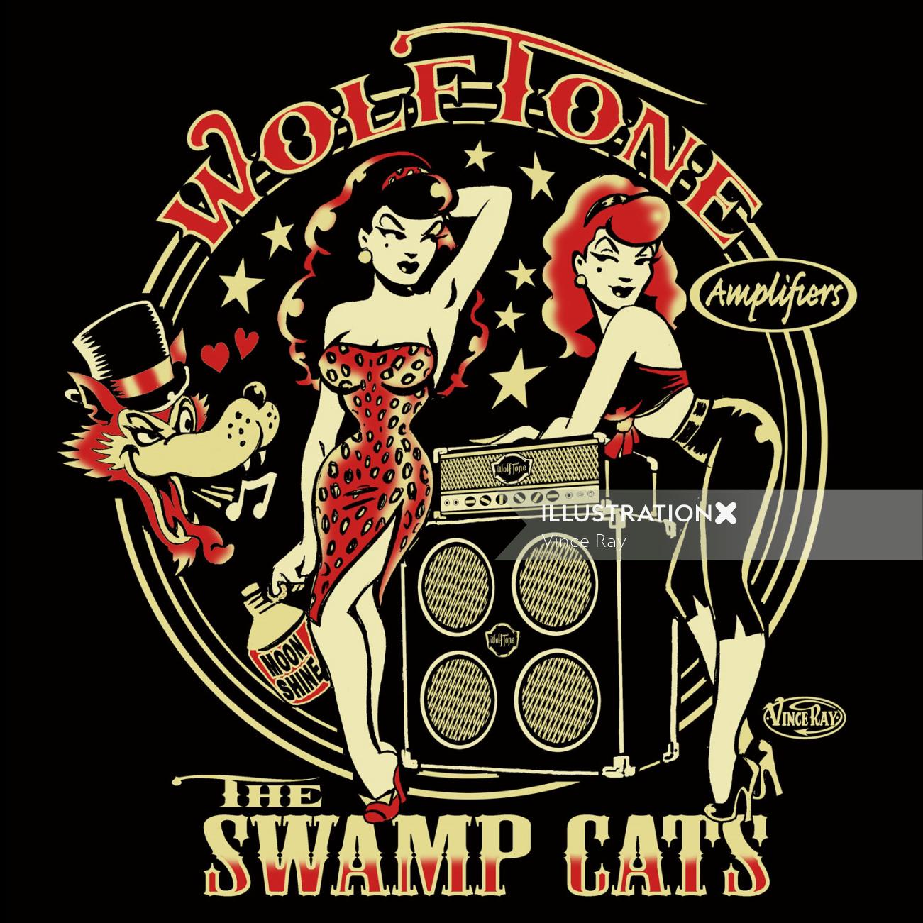 Low brow art for Wolf tone by Vince Ray