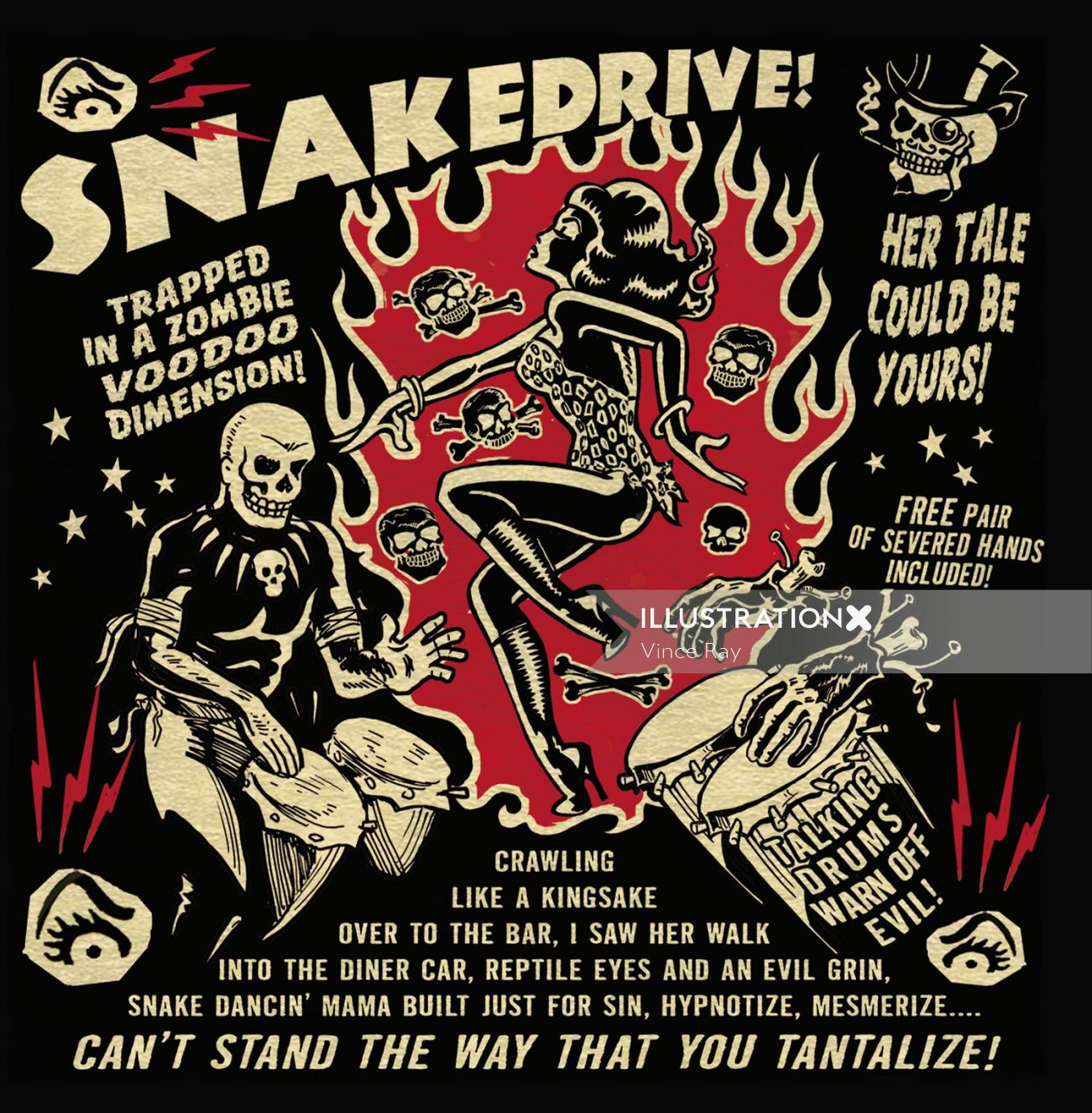 Cover design for snake drive