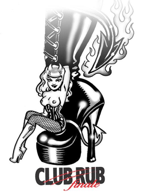 Design de pôster para final de clube de massagem