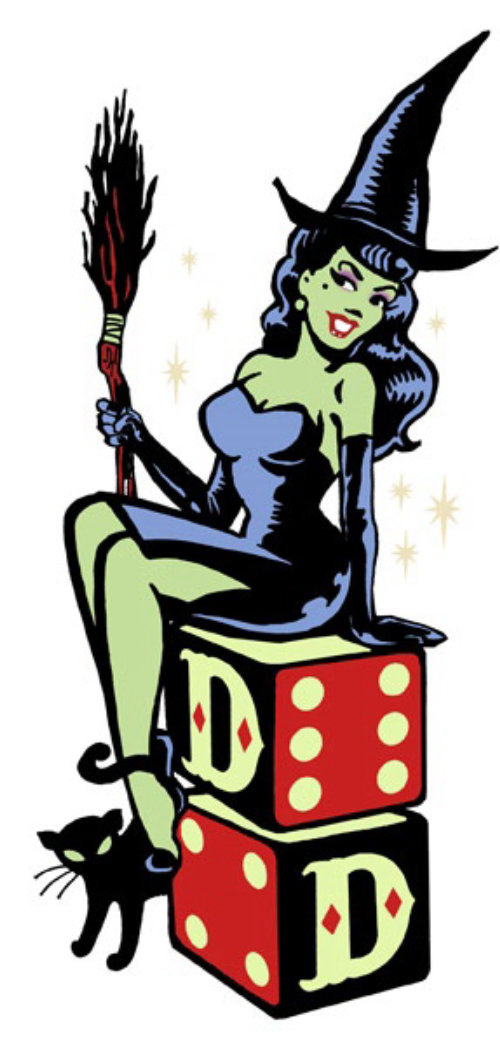 Pop art of witch