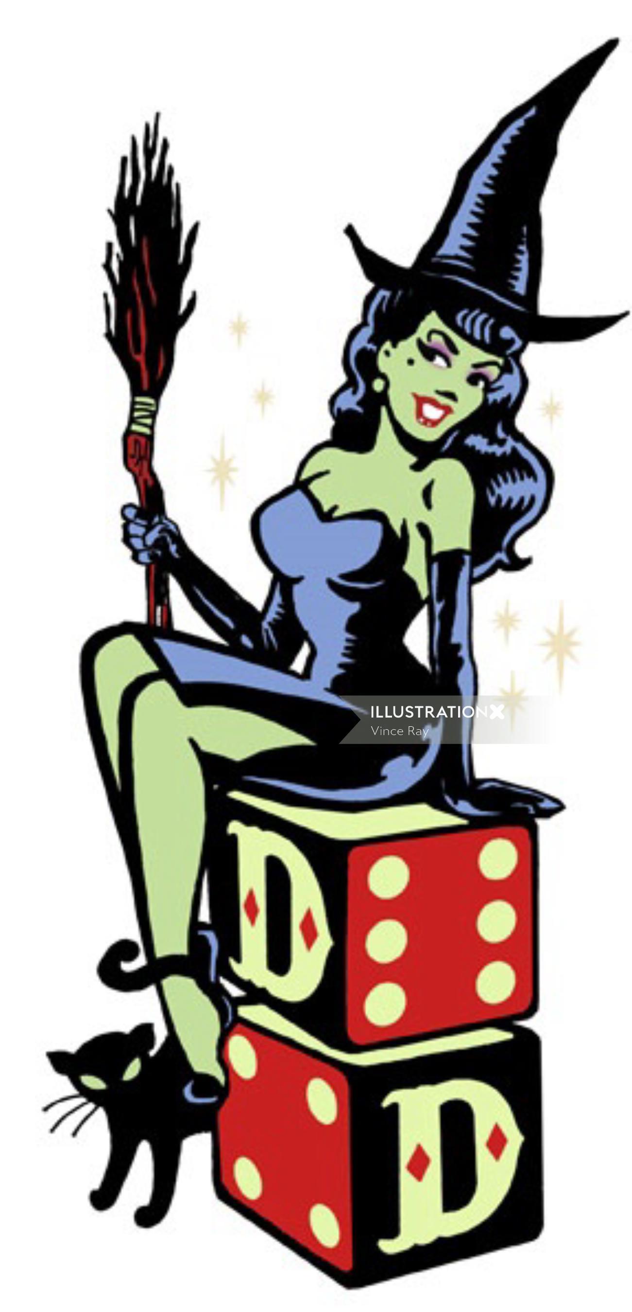 Pop art of witch