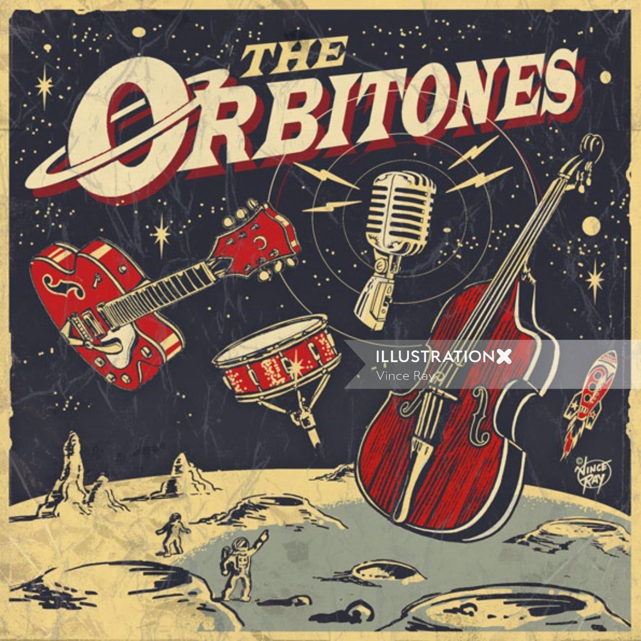 The orbitones lettering art