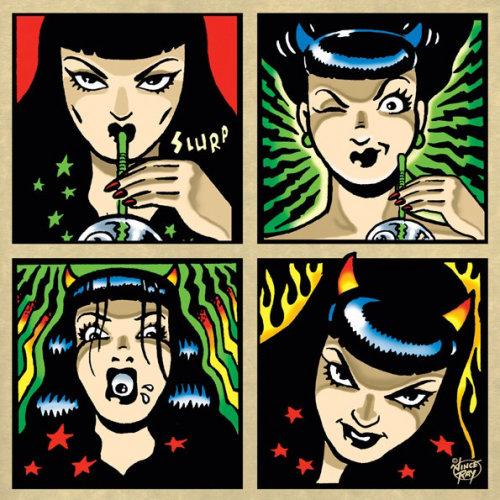 Design de personagens de mulheres engraçadas