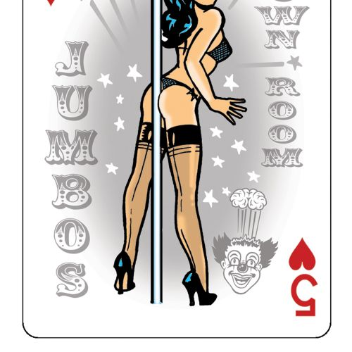 Lingerie Woman on playing cards