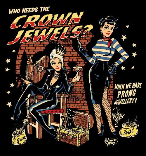 Mulheres com gato e jóias