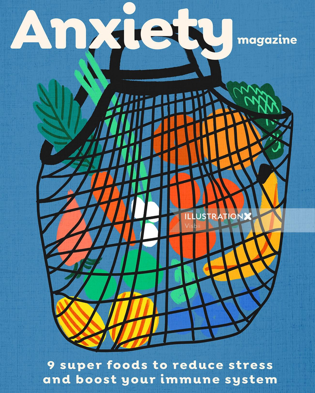 Magazine cover illustration for Anxiety magazine