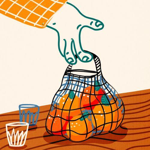 oranges, market, fresh, healthy, funny, bold, bright, humorous, character, weird, strange, fun, happ