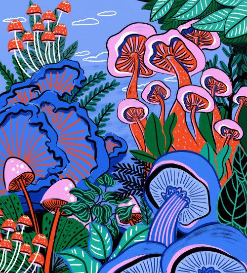 Mushroom plant nature illustration