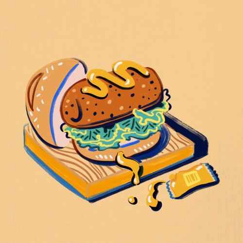 Cartoon design of Hamburger illustration