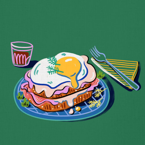 Egg sandwich food illustration