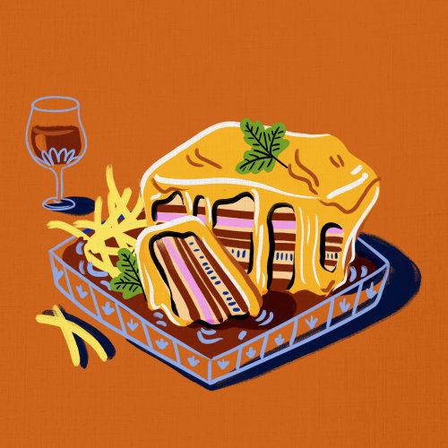 Cheese sandwich with fries food  illustration