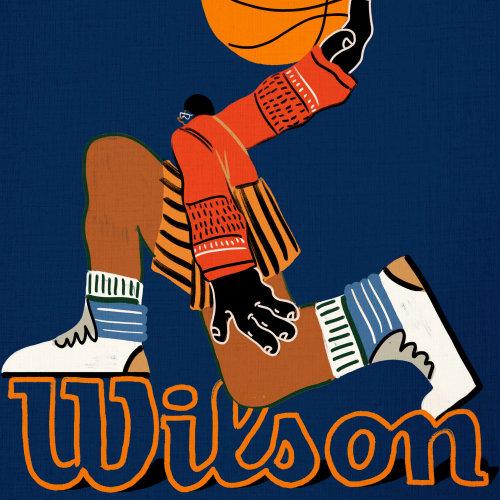 Cartoon illustration of Wilson Chandler, American basketball player