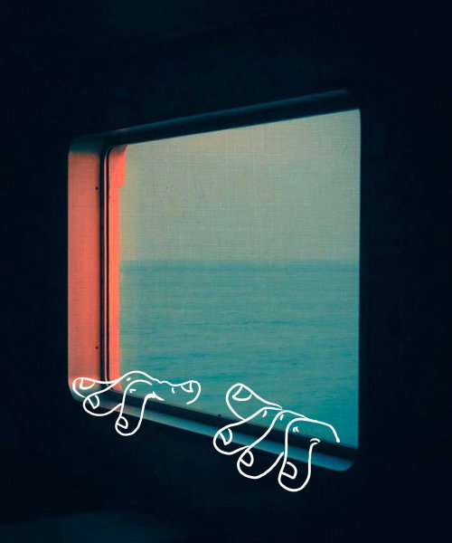 Illustration of Sea view from window