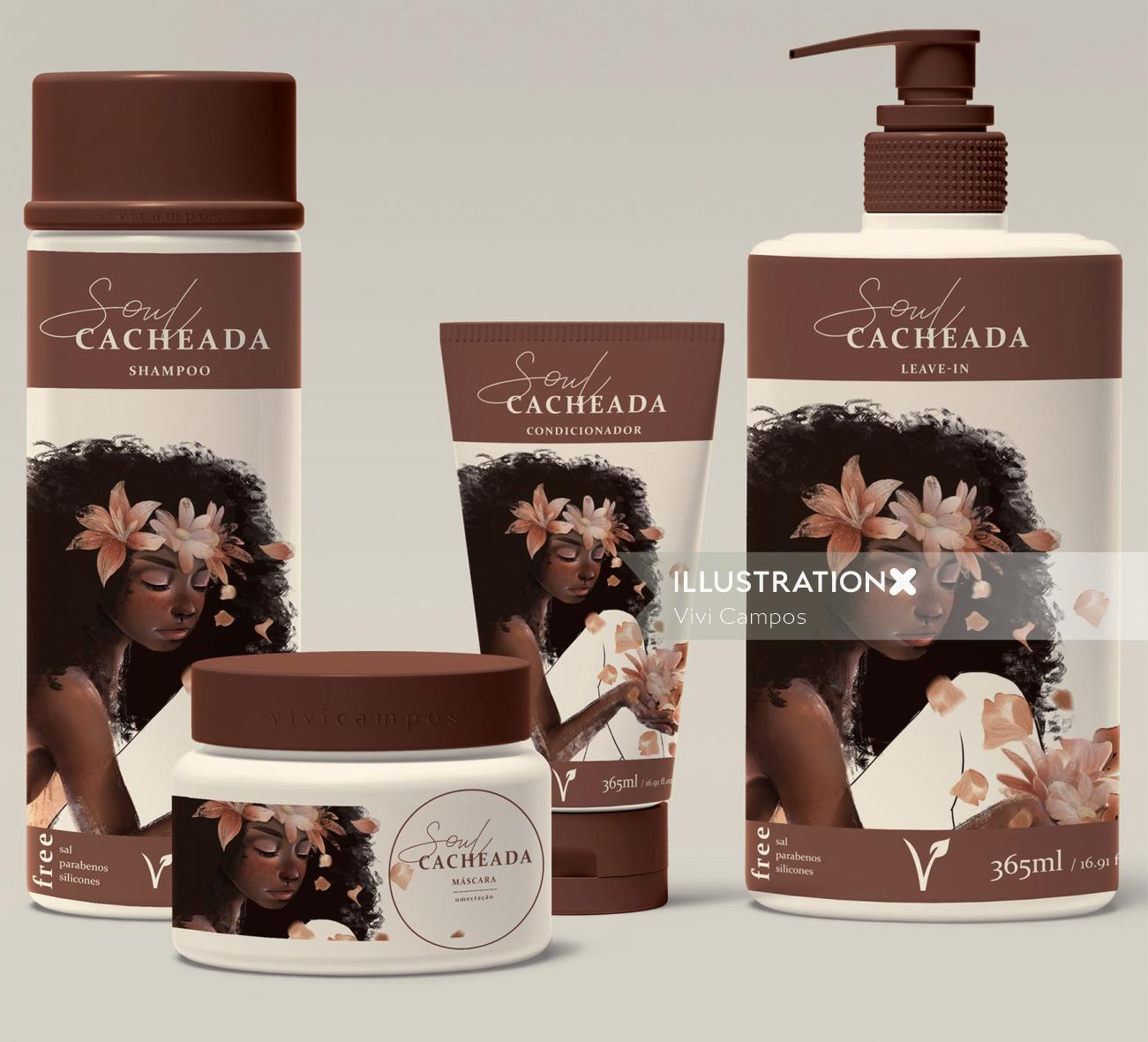 packaging illustration for beauty product