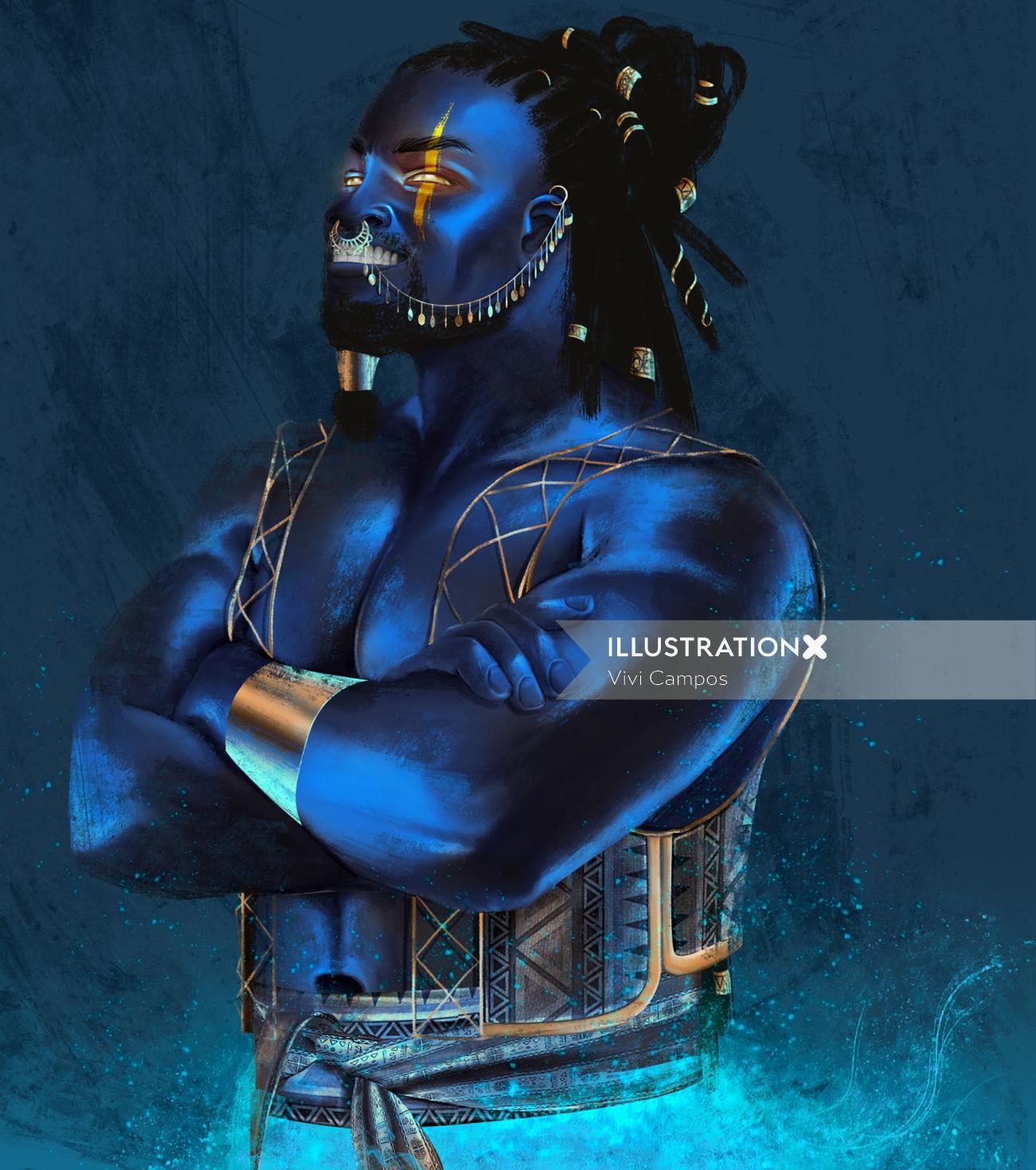 mythological character illustration