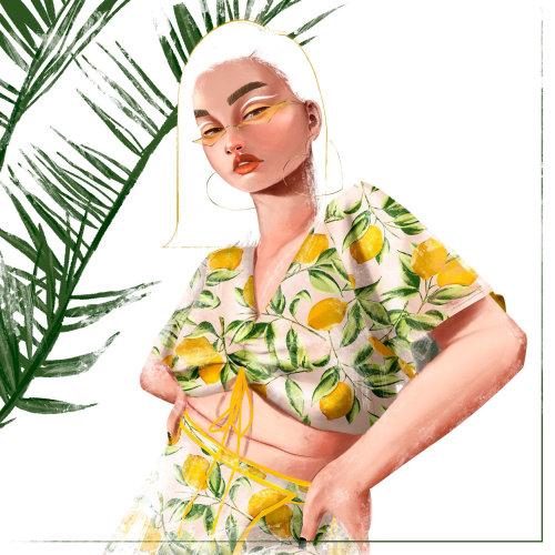illustration d'impression de citron pour les vêtements